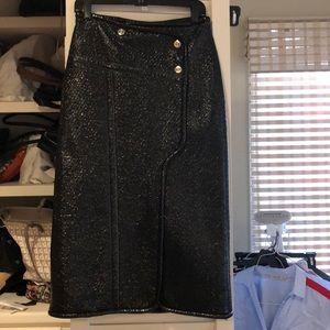 Yugak Azrouel patent wrap skirt